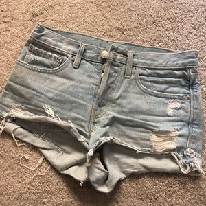 Pants - Ripped denim shorts from urban outfitters